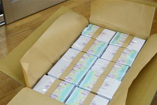 朱印帳の完成です。この後包装し、お客様の元へお届けします。